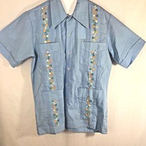 Guayabera Mexicana Sanforizadas Shirt light blue